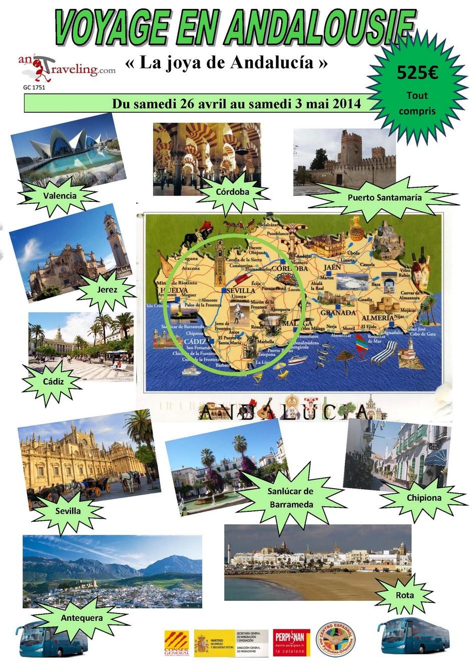 Affiche Andalousie