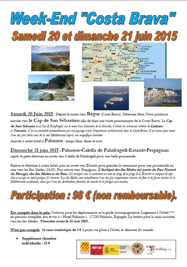 excursion Costa Brava juin 2015